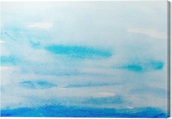 Leinwandbild Farbstriche Aquarell, Malerei, Kunst