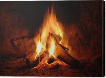 Leinwandbild Feuer, Kaminfeuer, Flammen,