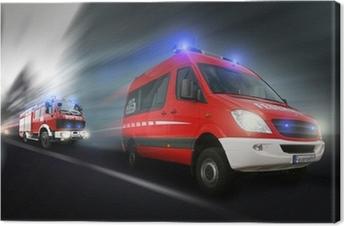 Leinwandbild Feuerwehreinsatz