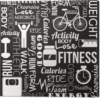 Leinwandbild Fitness-Vektor