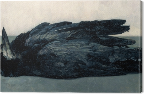 Leinwandbild Floris Verster - Zwei tote Krähen - Reproductions