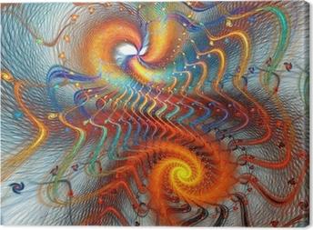 Leinwandbild Fractal Spirale Hintergrund