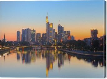 Leinwandbild Frankfurt am Abenddämmerung Startseite