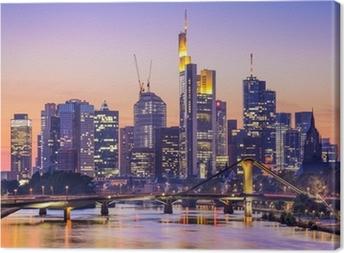Leinwandbild Frankfurt am Main, Deutschland City Skyline