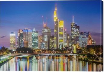 Leinwandbild Frankfurt skyline