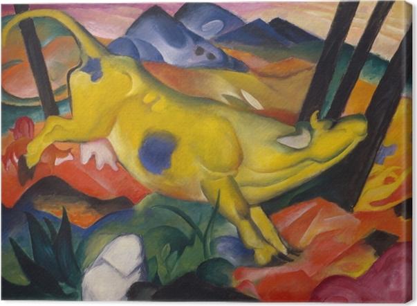 Leinwandbild Franz Marc - Die Gelbe Kuh - Reproductions
