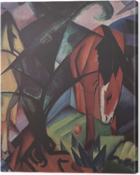 Leinwandbild Franz Marc - Pferde und Adler - Reproductions