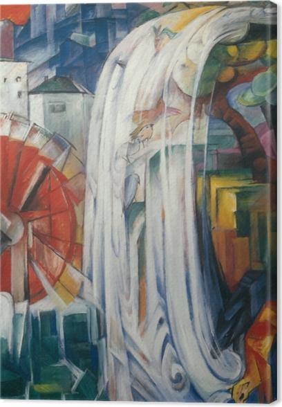 Leinwandbild Franz Marc - Verzauberte Mühle - Reproductions
