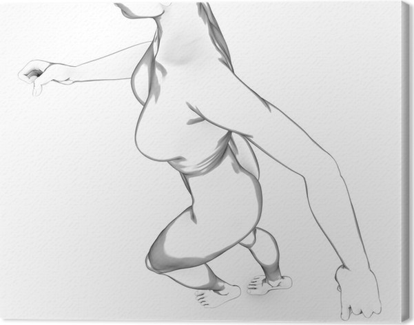 Leinwandbild Frau menschlichen Körper Anatomie Körper weiß ...