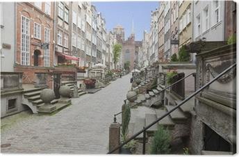 Leinwandbild Frauengasse in der Altstadt von Danzig, Polen