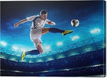 Leinwandbild Fußballspieler in Aktion