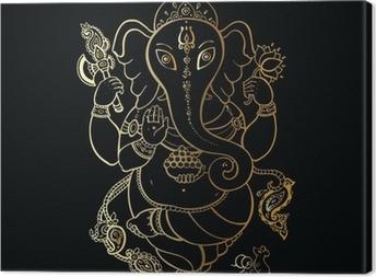 Leinwandbild Ganesha Hand gezeichnete Illustration.