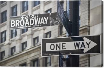 Leinwandbild Ganneau Broadway à New-York