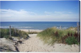 Leinwandbild Gasse zum Strand