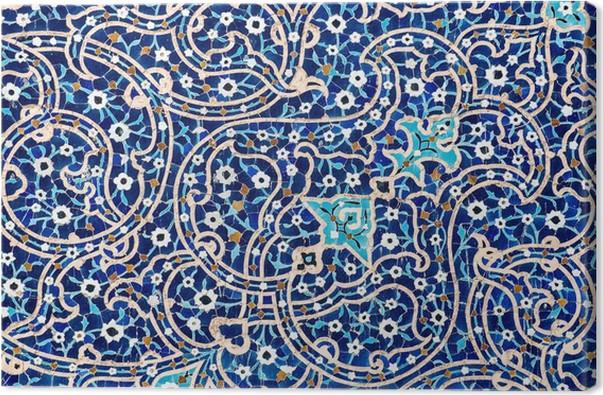 leinwandbild gekachelten hintergrund orientalische ornamente moschee von isfahan iran pixers. Black Bedroom Furniture Sets. Home Design Ideas