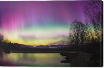 Leinwandbild Gelegentlich Aurora Borealis in Vermont.