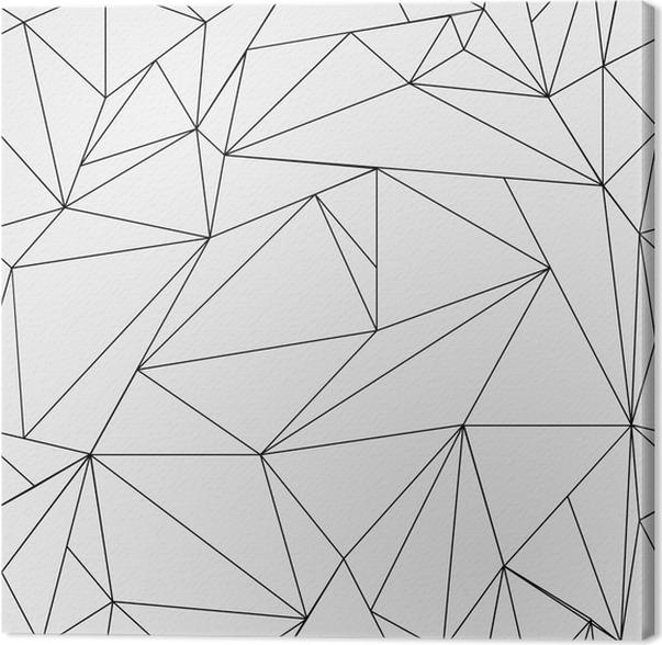 leinwandbild geometrische einfache schwarz wei minimalistische muster dreiecke oder. Black Bedroom Furniture Sets. Home Design Ideas