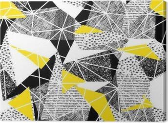 Leinwandbild Geometrische nahtlose Muster im Retro-Stil. Jahrgang background.Tr
