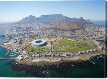 Leinwandbild Gesamt Luftaufnahme von Kapstadt, Südafrika