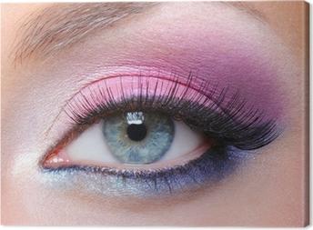 Leinwandbild Glamour-Make-up von einer Frau Auge