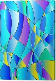 Leinwandbild Glasmalerei Textur, blau Ton, Vektor-Hintergrund