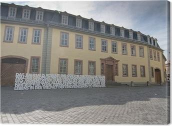 Leinwandbild Goethes Wohnhaus in Weimar, Thüringen