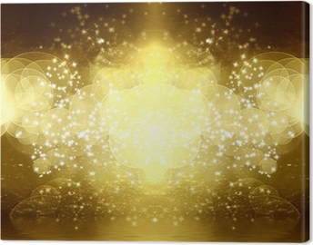 Leinwandbild Gold-Glitter