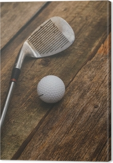 Leinwandbild Golfball