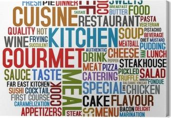 Leinwandbild Gourmet und Küche