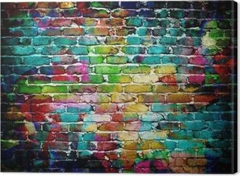 Leinwandbild Graffiti-Mauer