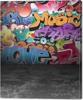Leinwandbild Graffiti wall urban street art painting