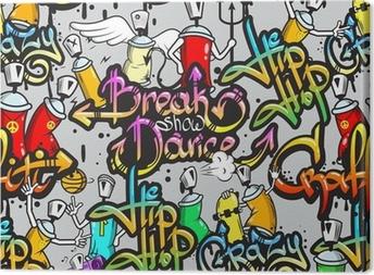 Leinwandbild Graffiti-Zeichen nahtlose Muster