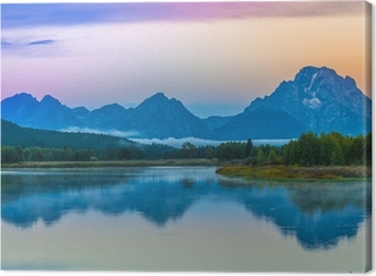 Leinwandbild Grand Teton Reflection am Sonnenaufgang