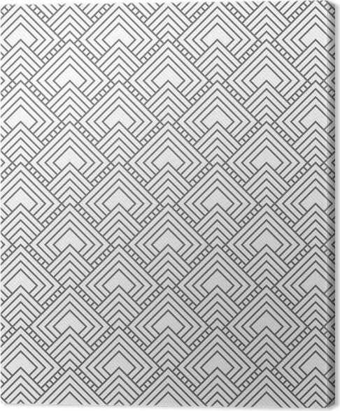 Leinwandbild Grau Quadratischen Fliesen MusterWiederholung - Fliesen grau quadratisch