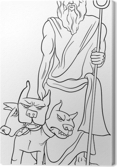 Leinwandbild Griechischer Gott hades Malvorlagen • Pixers® - Wir ...