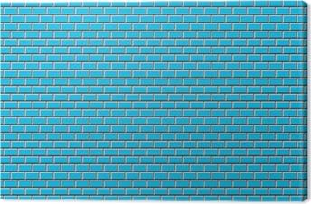 Leinwandbild Grundbahn-Fliesen-Blau