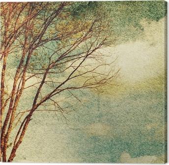 Leinwandbild Grunge Jahrgang Natur Hintergrund