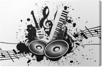 Leinwandbild Grunge Musik