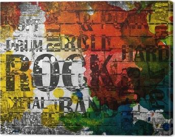 Leinwandbild Grunge Rock Musik Poster