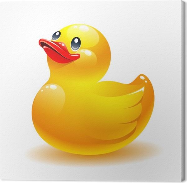 Leinwandbild Gummi-Ente Vektor-Symbol • Pixers® - Wir leben, um zu ...