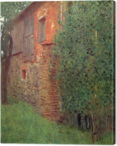 Leinwandbild Gustav Klimt - Bauernhaus in Kammer am Attersee (Mühle) - Reproduktion