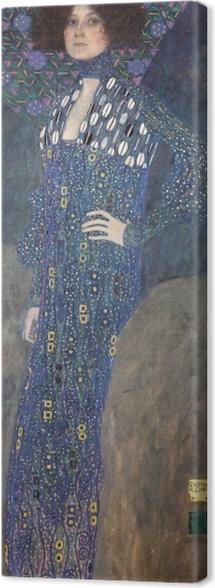 Leinwandbild Gustav Klimt - Bildnis der Emilie Flöge - Reproduktion