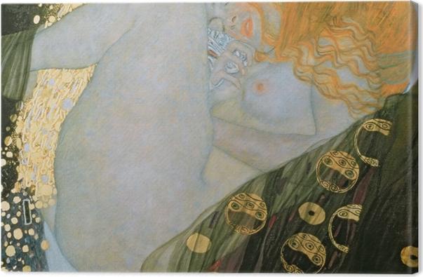 Leinwandbild Gustav Klimt - Danae - Reproduktion