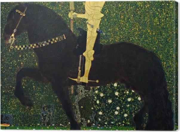 Leinwandbild Gustav Klimt - Das Leben ein Kampf (Der goldene Ritter) - Reproduktion