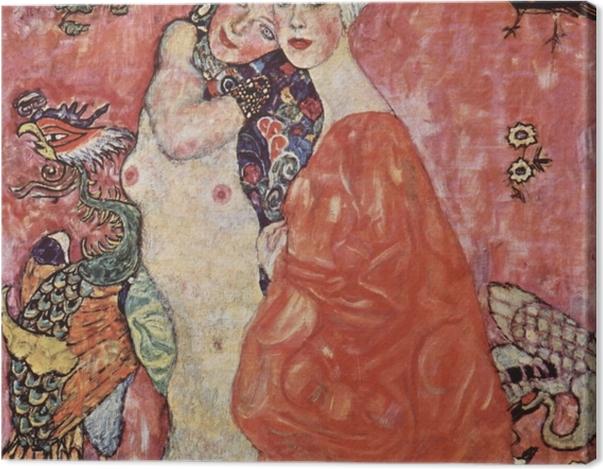 Leinwandbild Gustav Klimt - Die Freundinnen - Reproduktion