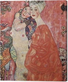 Leinwandbild Gustav Klimt - Die Freundinnen