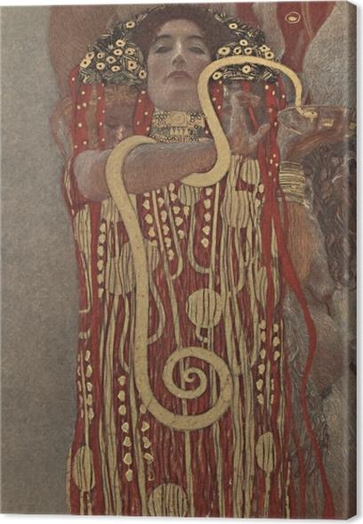 Leinwandbild Gustav Klimt - Die Hygieia - Reproduktion