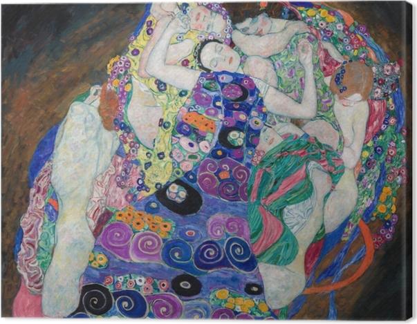 Leinwandbild Gustav Klimt - Die Jungfrau - Reproduktion