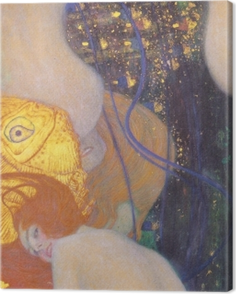Leinwandbild Gustav Klimt - Goldfische - Reproduktion