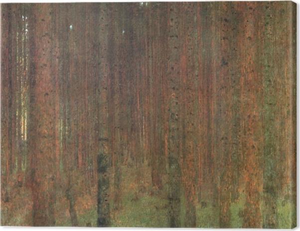 Leinwandbild Gustav Klimt - Kiefernwald - Reproduktion